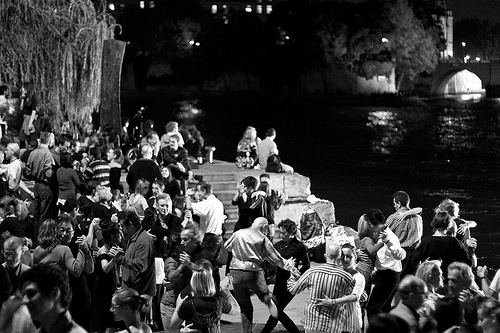 dancing along the seine